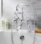 Belgravia Crosshead bath shower mixer with kit