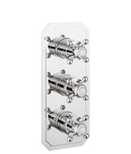 Belgravia Crosshead slimline thermostatic shower valve 3 control
