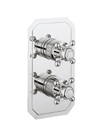 Belgravia Crosshead slimline thermostatic shower valve with 2 way diverter