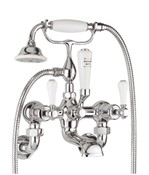 Belgravia Lever bath shower mixer with kit and wall unions