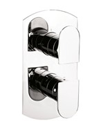 Modest thermostatic shower valve with 2 way diverter