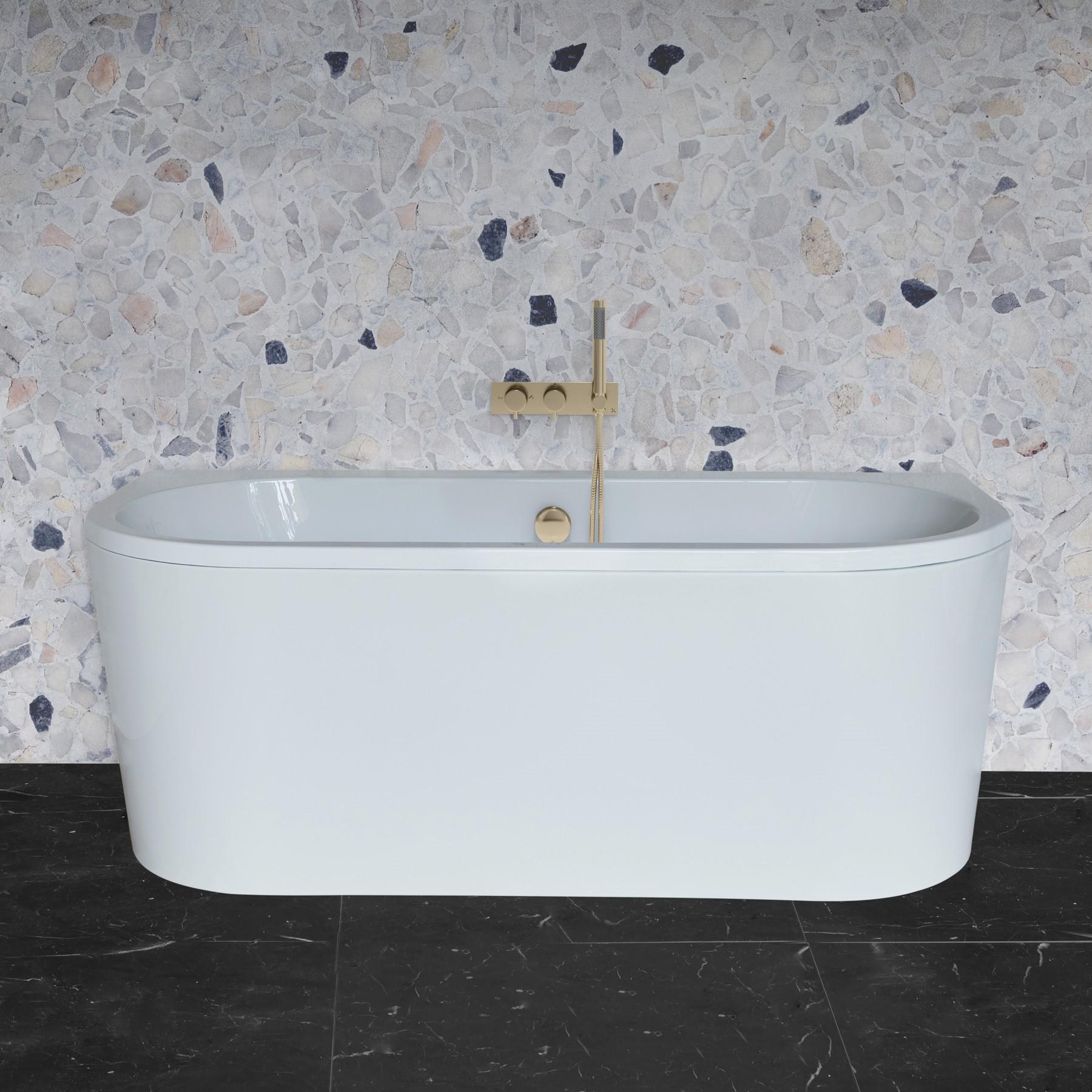 Serene Back to Wall Bath
