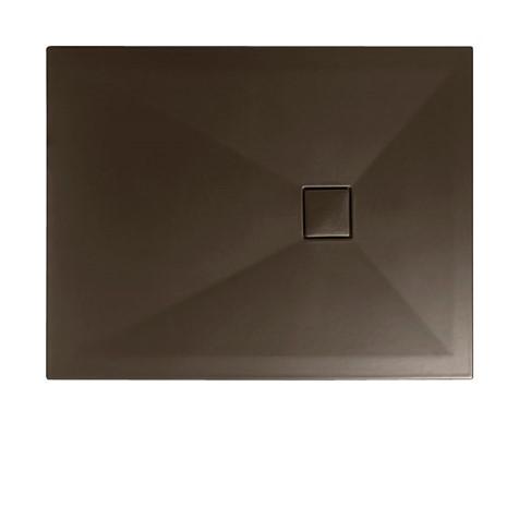 Rectangular PLUS+TON Cocoa Ceramic Shower Trays (Width x Depth: 800 ...