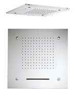 Square multifunction recessed 500mm showerhead