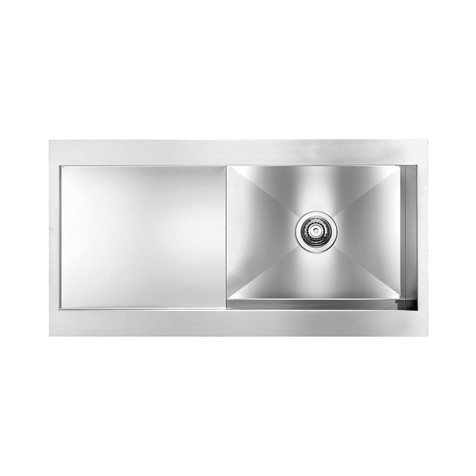 Svelte 100x52 single bowl kitchen sink with drainer (Finish ...