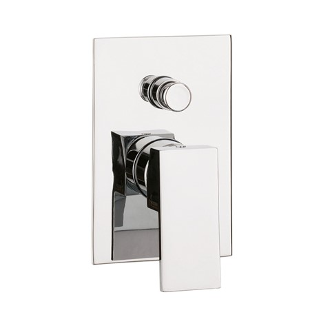 Water Square manual shower valve with diverter (Finish: Chrome ...