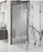 Zion Hinged Shower Door with Inline Panel