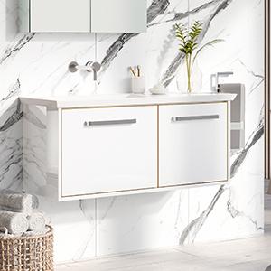 Arena Bathroom Furniture in White