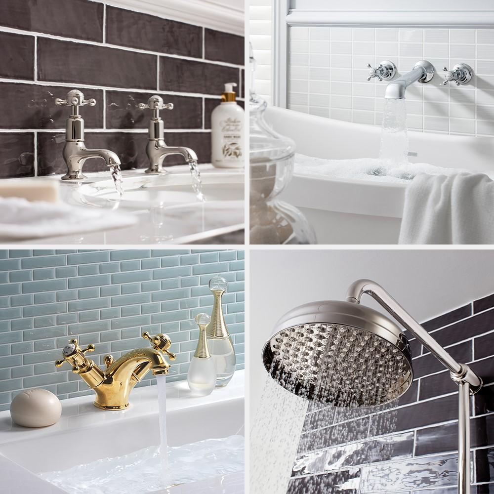 Luxury Bathroom Design | Capture a modern classic bathroom design like no other with the Belgravia bathroom brassware range