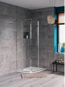 Svelte single slider shower enclosure