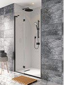 Design+ Matt Black Shower Enclosure