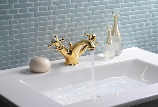 Belgravia Brassware | Create an unlacquered brass finish for your bathroom