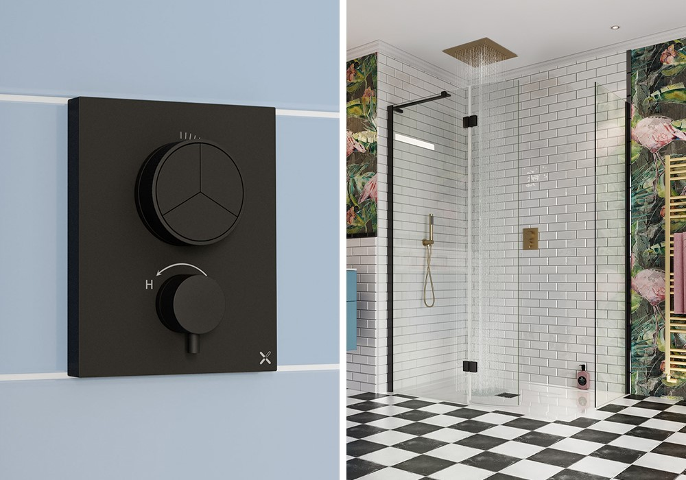 Luxury Modern Bathroom | For an incredible modern bathroom design, integrate MPRO bathroom brassware into your space.