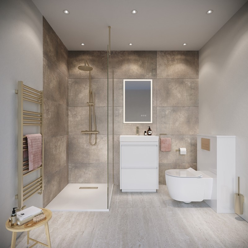 Modern Contemporary Bathroom | Capture a blissful modern en-suite in your home with this incredible design