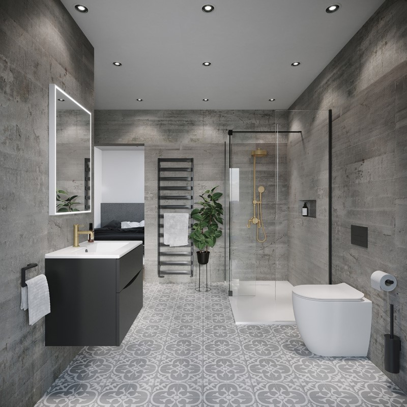 Modern Contemporary Bathroom | Prompt wellness in the home with this Spa-Inspired Luxury en-suite