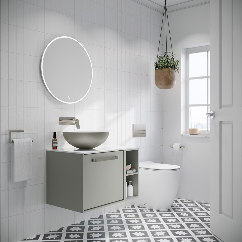 Modern Contemporary Bathroom | Heighten luxury in your home with this Palatial modern cloakroom scheme