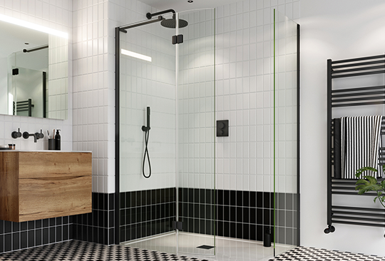 Contemporary Showers | Integrate the Crossbox Push into your modern shower design for the ultimate modern luxury shower.