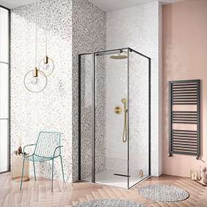 divine shower room, millennium pink