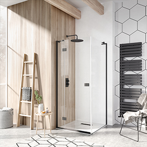 mindful shower room, wood shower room