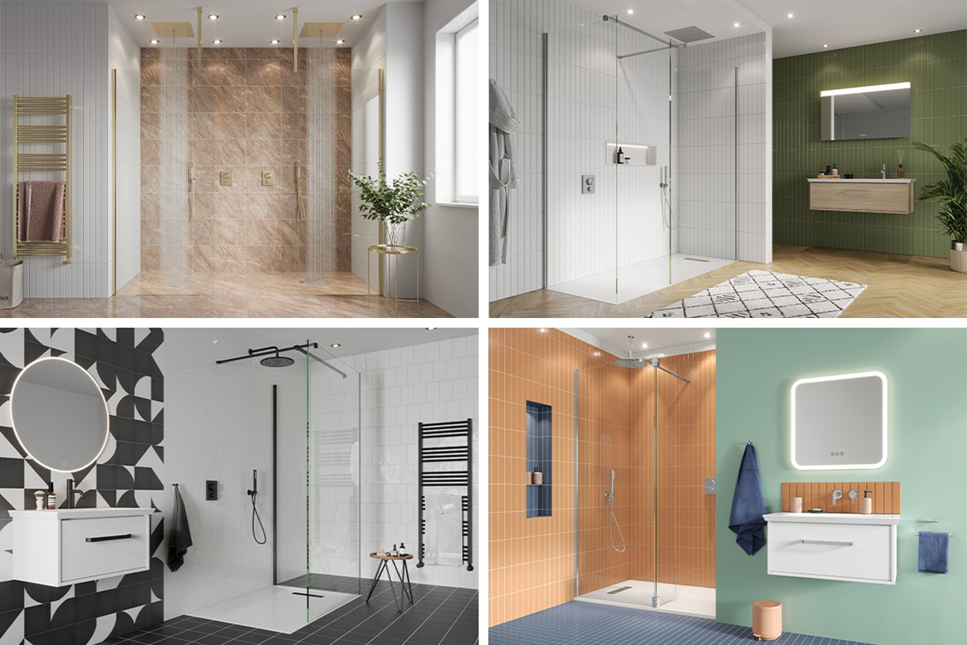 Contemporary Shower Room   Inspire a sense of serenity in your home with GALLERY 10 luxury walk in showers