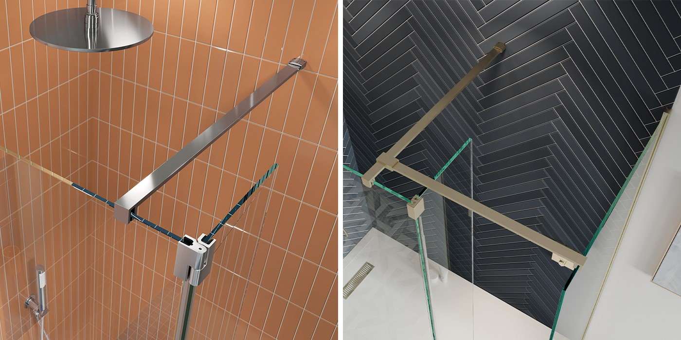 Contemporary Shower Room   For an opulent showering experience, consider a luxury walk in shower like the GALLERY 10 range