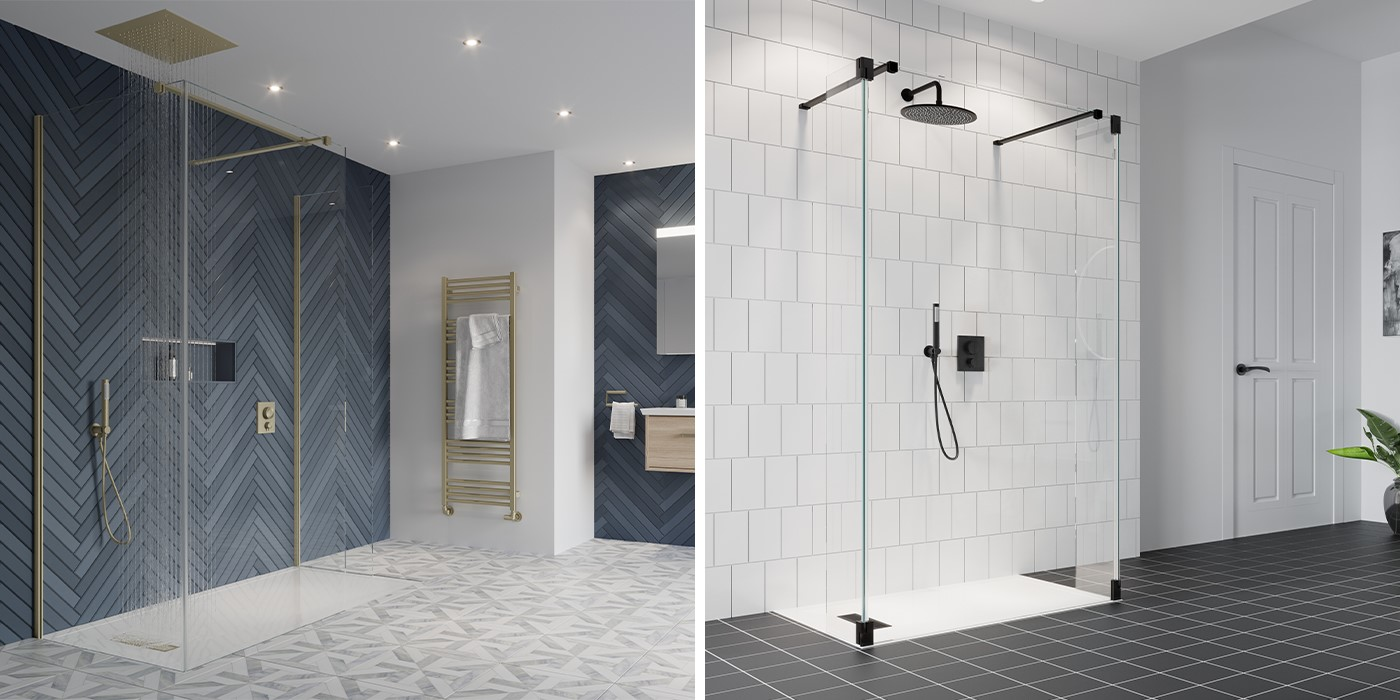 Contemporary Shower Room   Enhance your GALLERY 10 luxury walk in shower with coordinating MPRO shower brassware for a stunning shower space throughout