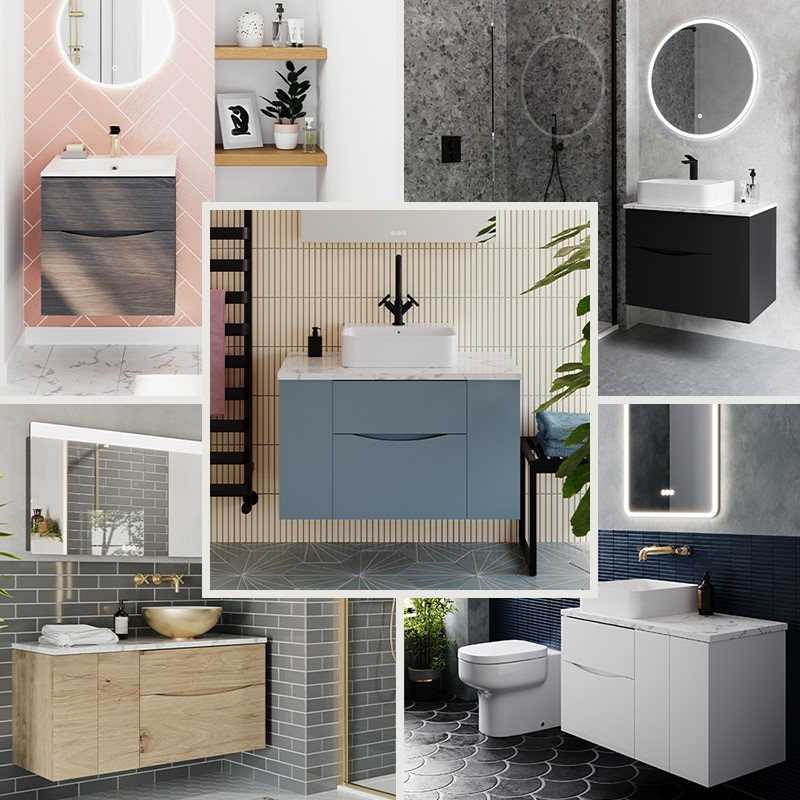 Luxury Bathroom Design | Embrace Colour Creativity in your contemporary style bathroom with the Glide II furniture range