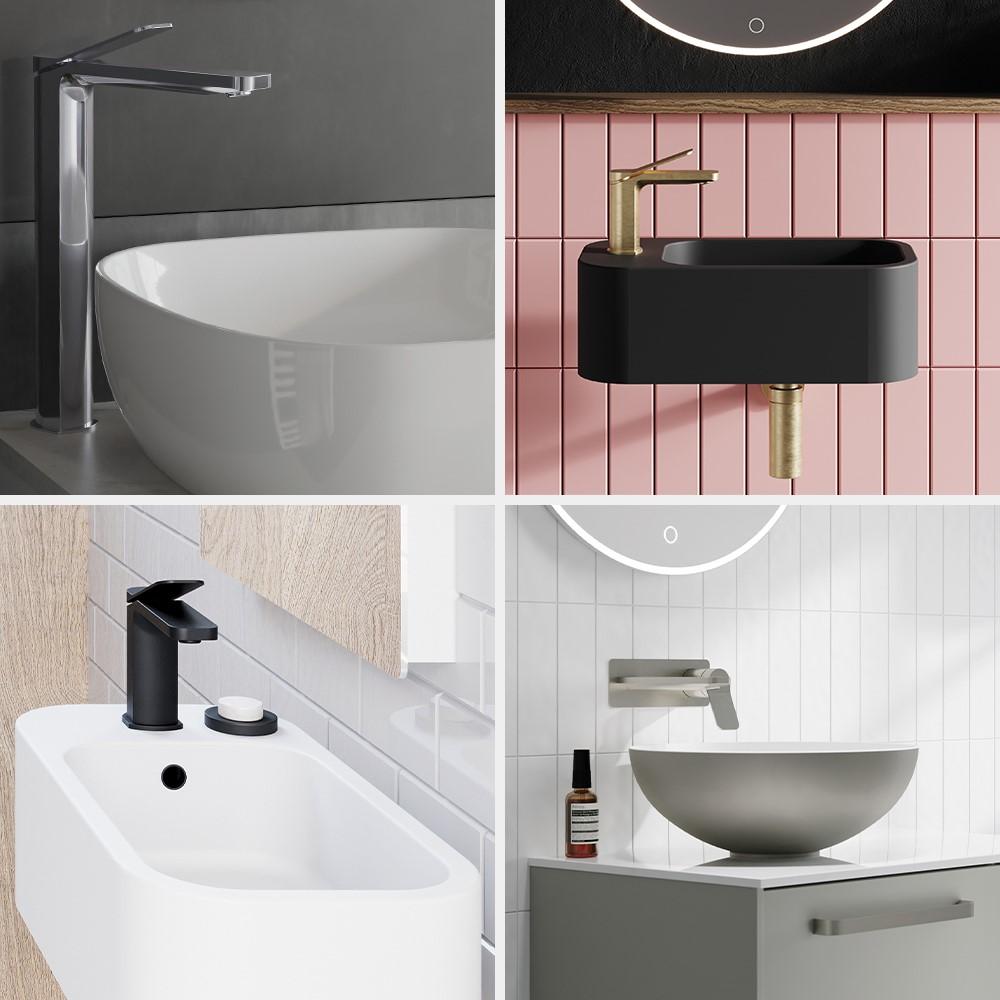 Luxury Bathroom Design | Create an incredible basin space with Glide II bathroom brassware