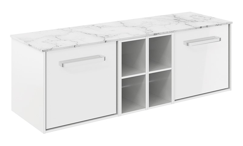 Contemporary bathroom furniture   For larger contemporary style bathrooms, take a look at the Infinity 1400 unit