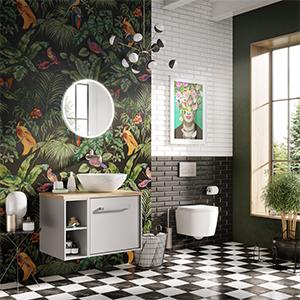 Brave bathroom, collectic bathroom