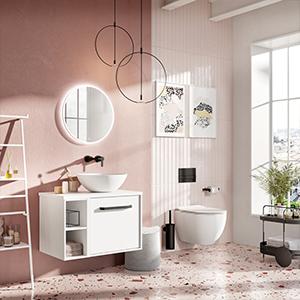 divine bathroom. millennium pink bathroom