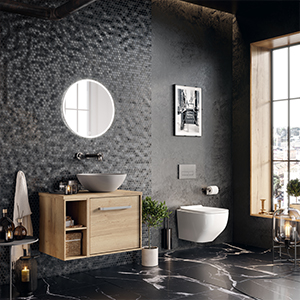 Indulgent bathroom, Dark grey bathroom