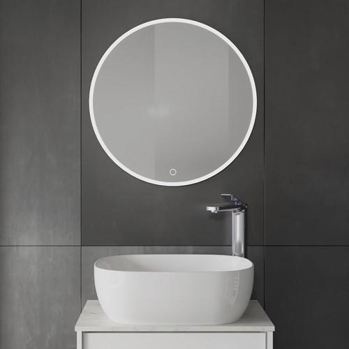 Contemporary bathroom furniture | For a sophisticated wash space, add an infinity mirror to your luxury bathroom layout