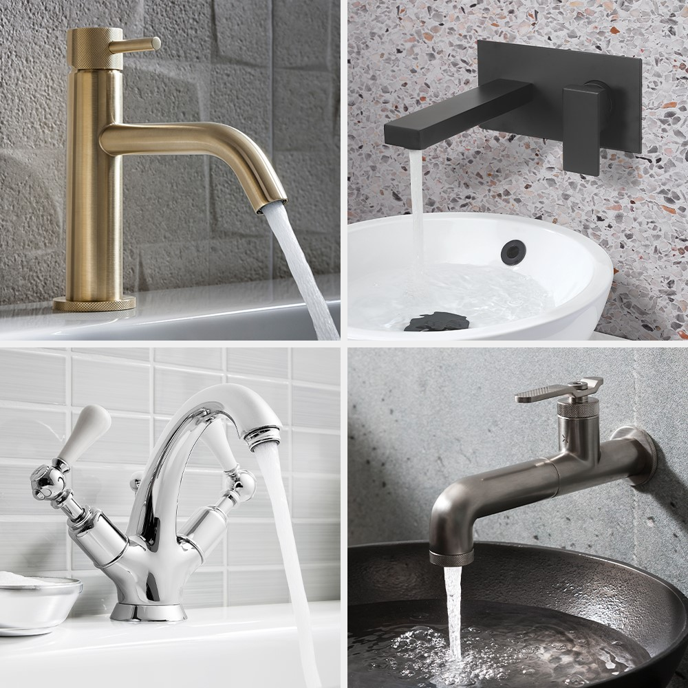 Luxury Bathroom Design | Complement your modern basin with captivating brassware