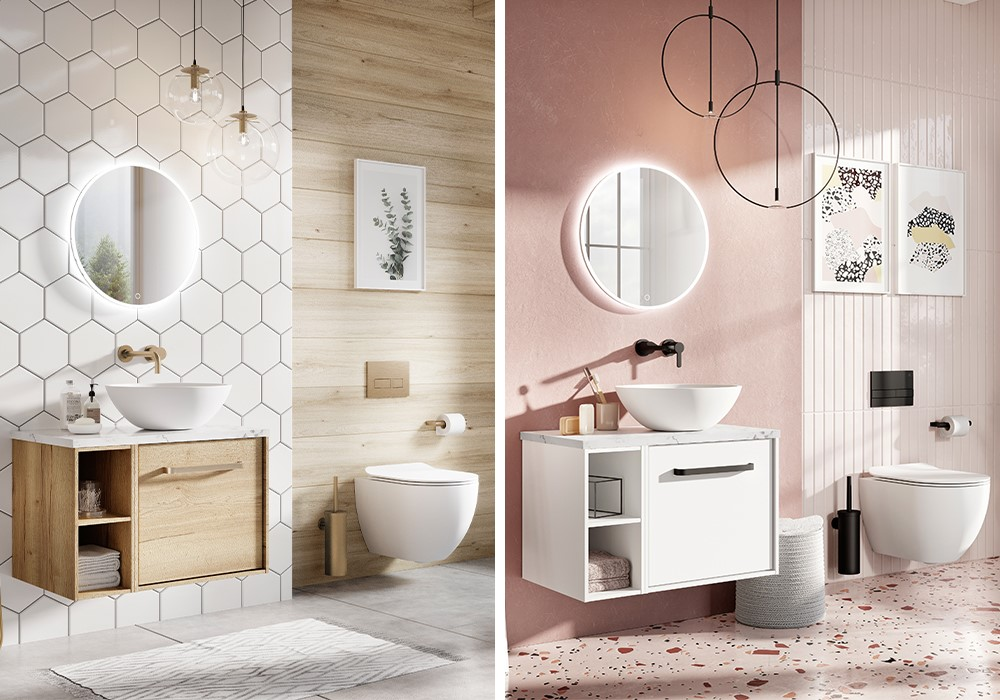 Luxury Modern Bathroom | Finish your modern bathroom statement with high end bathroom accessories for a stylish, cohesive design.