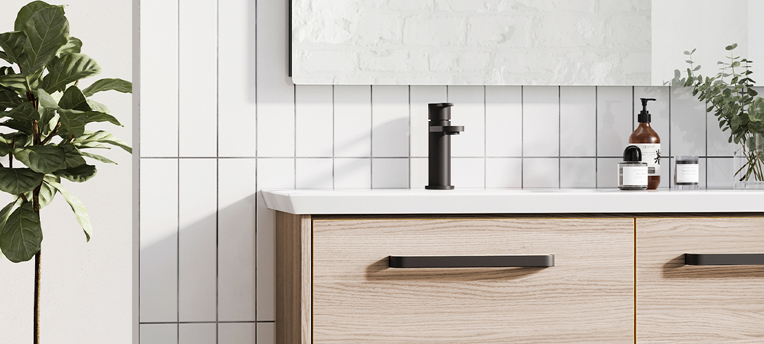 Matt Black Monobloc Basin Tap
