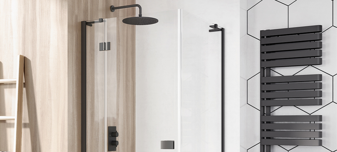 Matt Black Shower Room