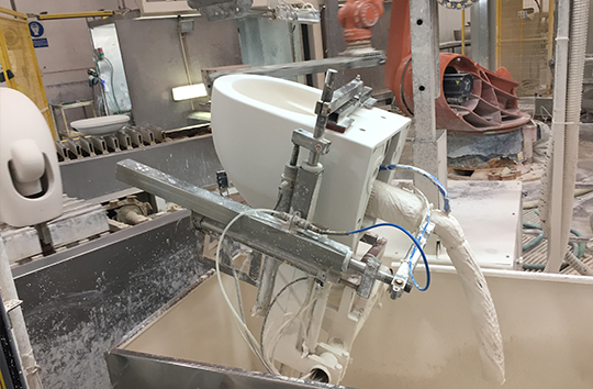 Glide II Toilets being Manufactured