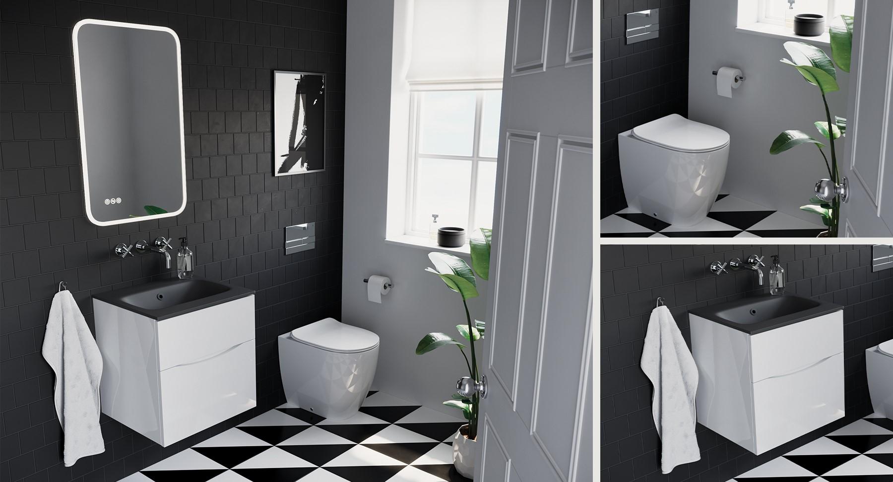 Monochrome Modern Cloakroom