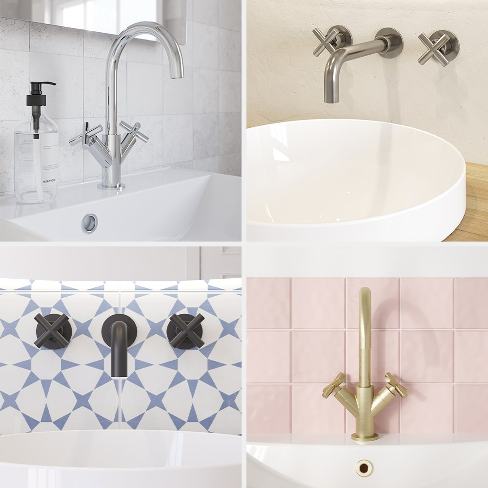 Luxury Bathroom Design | Inspire a modern classic bathroom design with MPRO Crosshead bathroom brassware