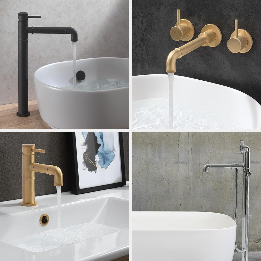 Luxury Bathroom Design | Create a captivating bathroom space with MPRO Industrial bathroom brassware