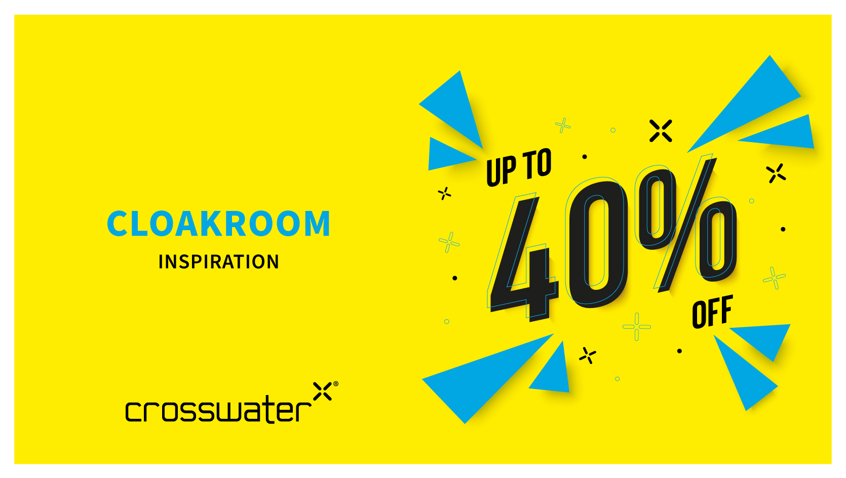Cloakroom up to 40% off Banner