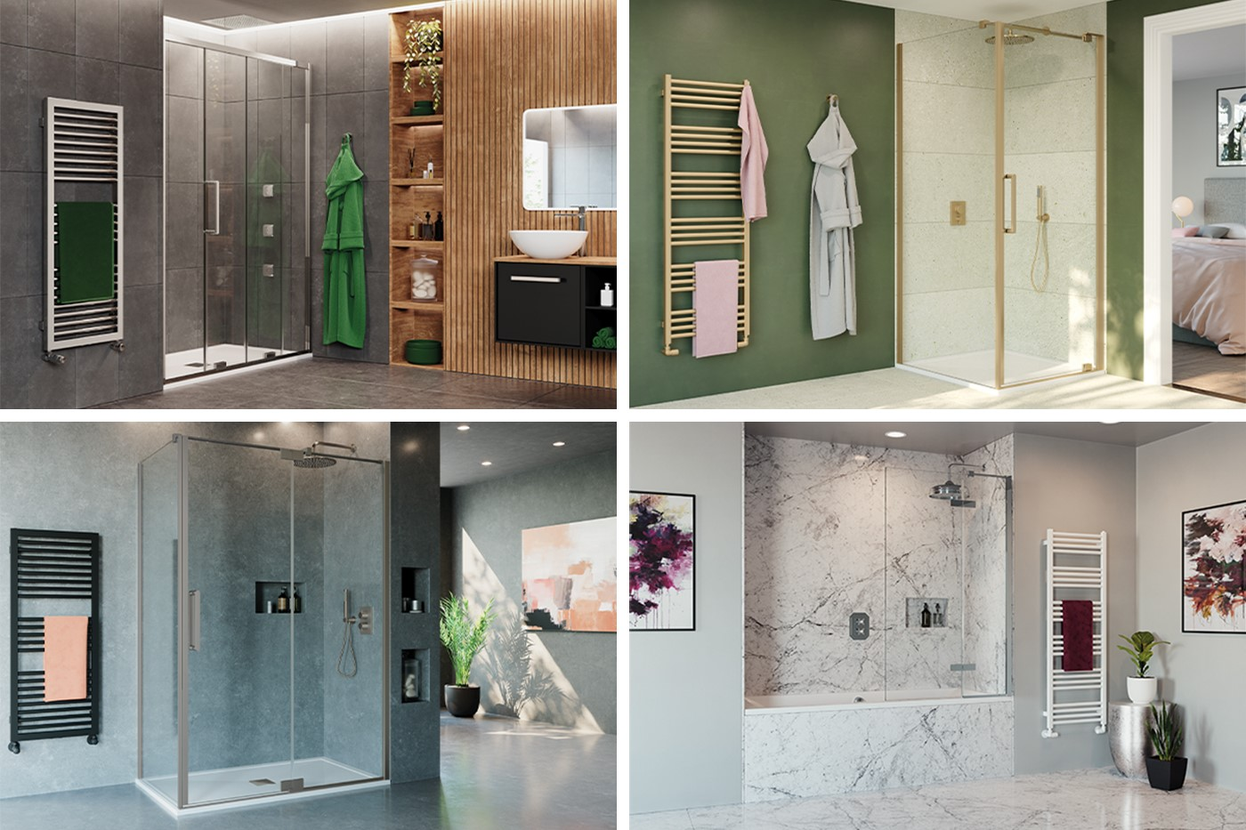 Contemporary Shower Room   For a luxury modern shower design providing the ultimate space of relaxation, look no further than OPTIX 10 luxury shower enclosures