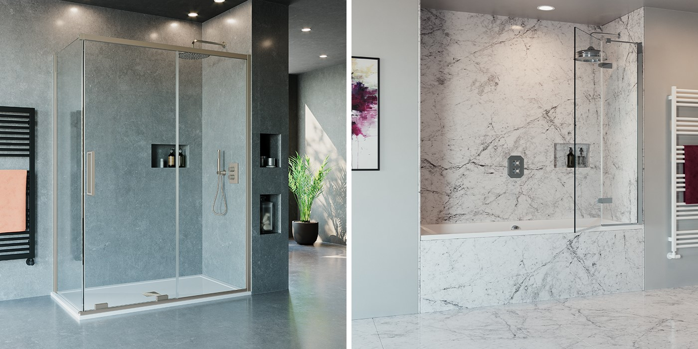 Contemporary Shower Room   For a luxury modern shower design that complements any setting, consider OPTIX 10 luxury shower enclosures and matching MPRO shower brassware for undivided relaxation