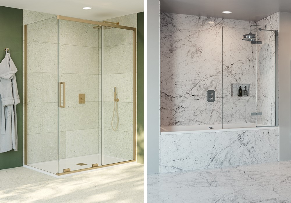 Luxury Showers | Elevate your modern bathroom with the revolutionary 10mm collection including luxury shower enclosures and luxury walk in showers.