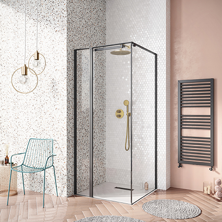 Matt Black Shower Room and Millennium Pink