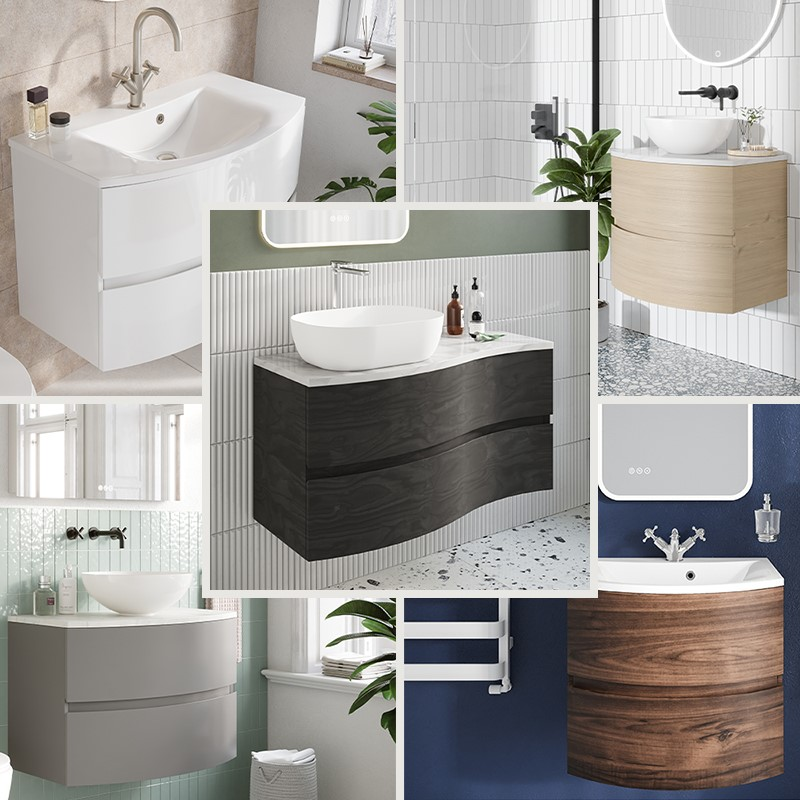 Luxury Bathroom Design | Welcome elegance to your contemporary style bathroom with the Svelte furniture collection