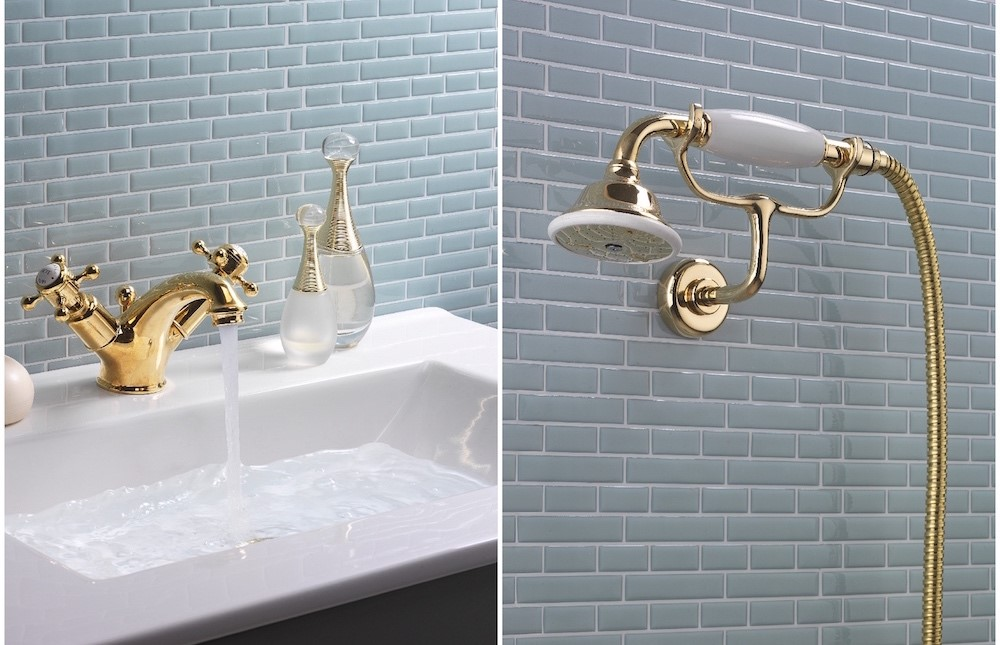 Belgravia Brassware | Inspire luxury in your modern traditional bathroom with Belgravia unlacquered brass tap and Belgravia brass shower