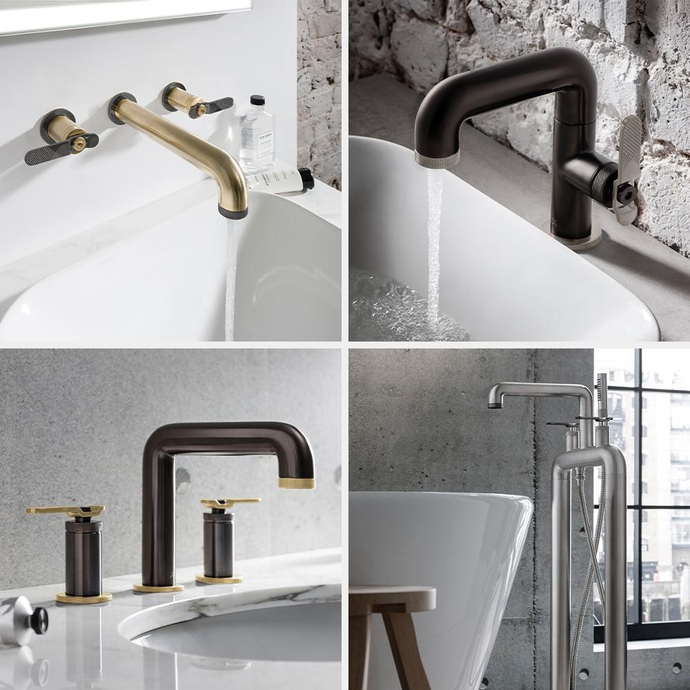 Luxury Bathroom Design | For distinctive contemporary style bathroom design, look no further than the UNION Mixage bathroom brassware collection