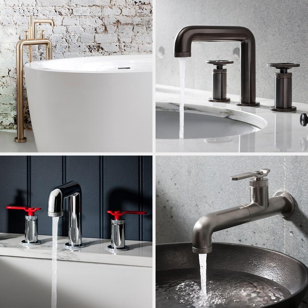Luxury Bathroom Design | Bring a unique look to your contemporary style bathroom with UNION brassware